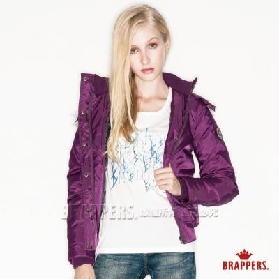 BRAPPERS 女款 女用撞色短版羽絨外套-紫