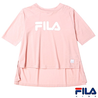 FILA KIDS #東京企劃 女圓領T恤-藕粉5TES-4456-PK