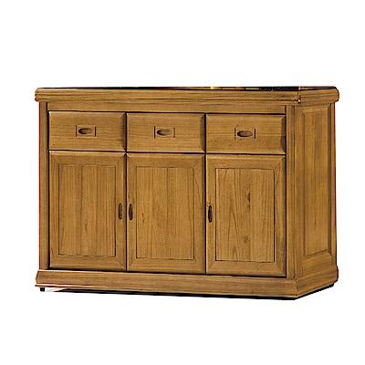 品家居 德貝5尺梧桐木實木玻璃餐櫃下座-149.4x43.8x82.2cm免組