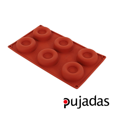 西班牙pujadas矽膠6格點心膜(甜圈型)