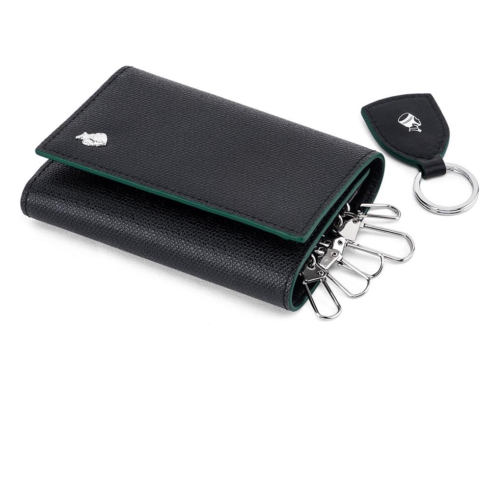 PORTER - 大膽玩色BOLD真皮機能鑰匙包 - 綠