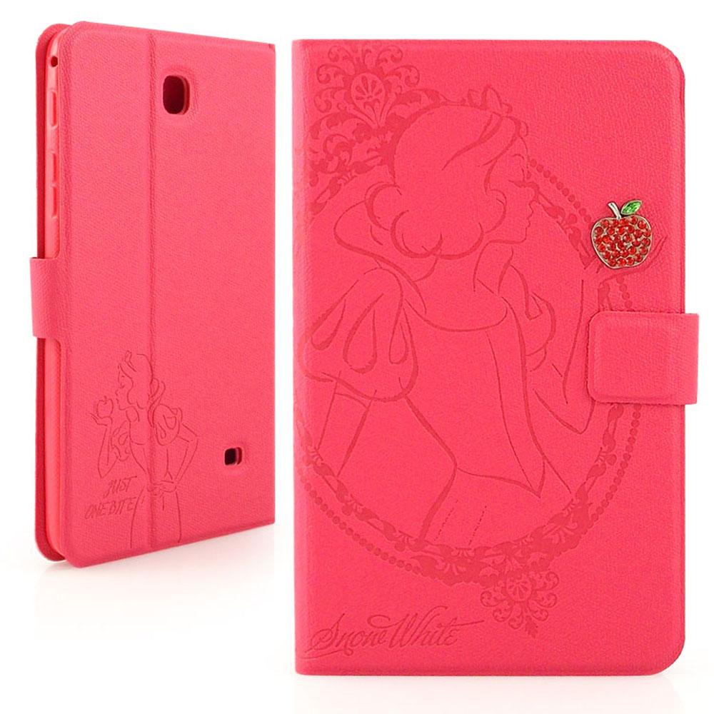 Disney Samsung GALAXY Tab 4 7.0 白雪公主手繪風水鑽壓紋皮套