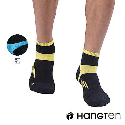 HANG TEN 二分之一氣墊機能襪2雙入組(男)_藍(HT-A33001)