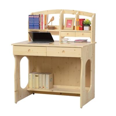 Bernice-羅恩松木實木書桌組-95x64x124cm