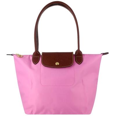 Longchamp 長背帶折疊水餃包(粉紅色/小)