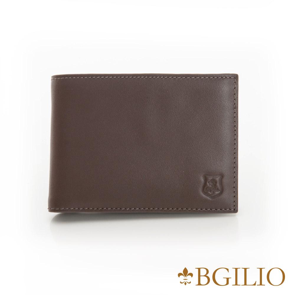 義大利BGilio - NAPPA軟牛皮時尚簡約短夾-咖啡色 1605.304B-03