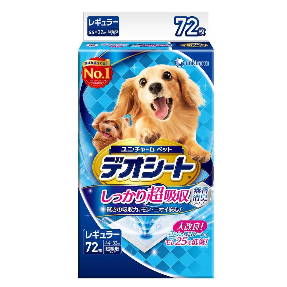 日本Unicharm消臭大師 超吸收狗尿墊 M號 72片裝 x 1包