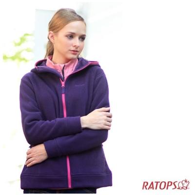 【瑞多仕】女款 Thermolite 推毛防潑水夾克_DH6121 暗茄紫色 V1