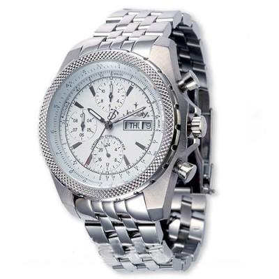 Jebely瑞士機械錶_伯尼納快車系列_側三眼造型年曆等多功能機械錶-白/42mm