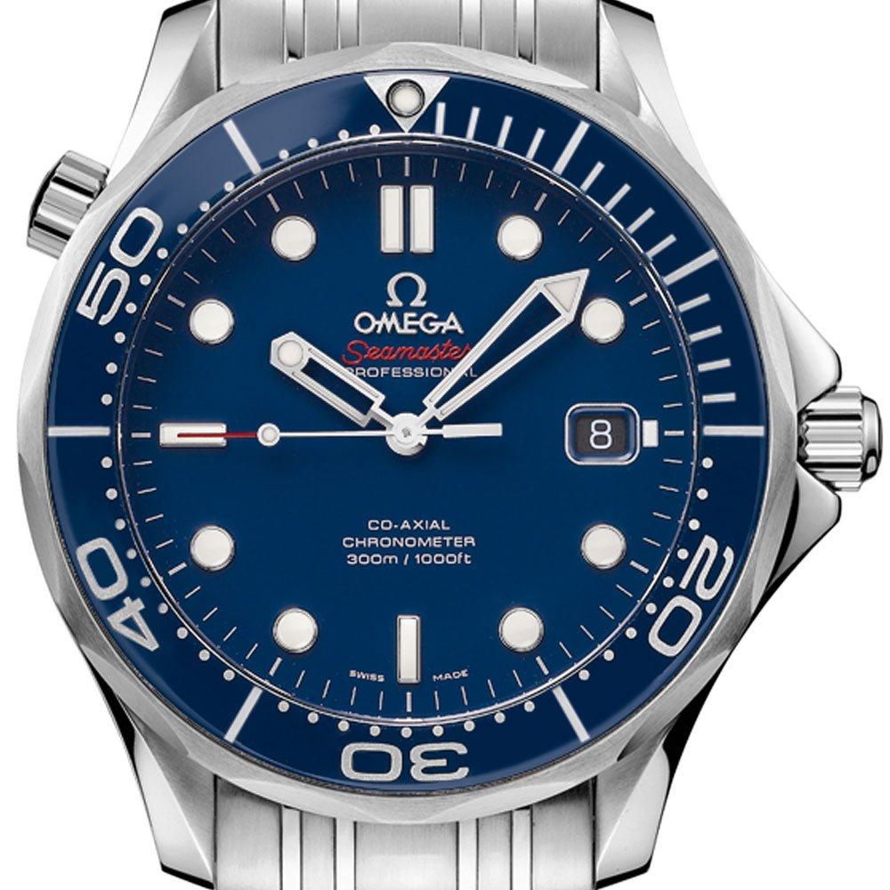 OMEGA 歐米茄 Seamaster 300米潛水機械錶-藍/41mm