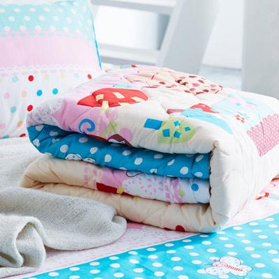 美夢元素 天鵝絨涼被床包組-雙人四件式 愜意小調