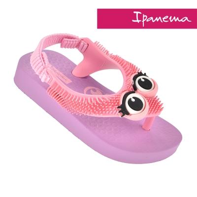 IPANEMA 寶寶 歡樂絨絨休閒鞋-紫粉印花