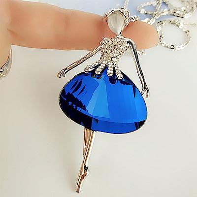 梨花HaNA 芭蕾女郎藍水晶長項鍊