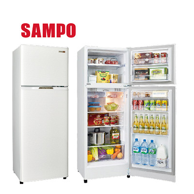 (福利品)  SAMPO聲寶 經典品味雙門電冰箱SR-L25G(W2)典雅白