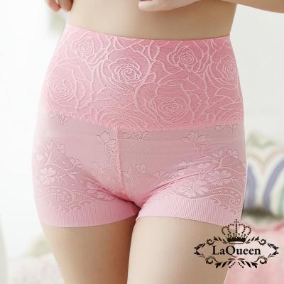 塑褲-舒適高腰蠶絲修飾褲-粉-La-Queen