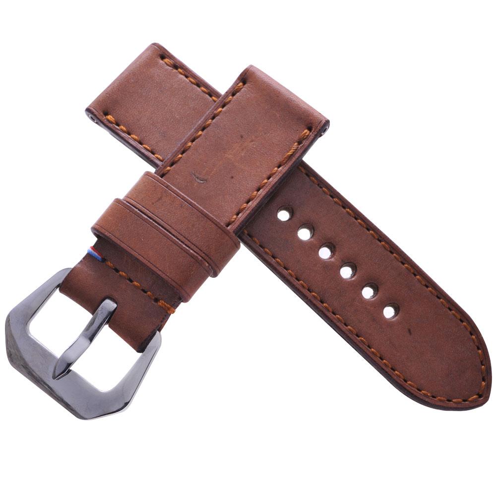 TED SU 太和錶帶 凱旋門Panerai 沛納海代用帶軍帶卡其同色線-26*26mm
