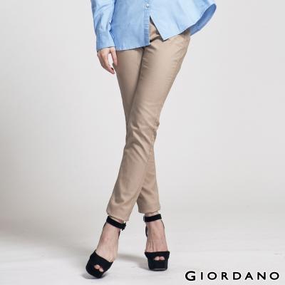 GIORDANO女裝低腰彈力修身窄管褲-84新核桃