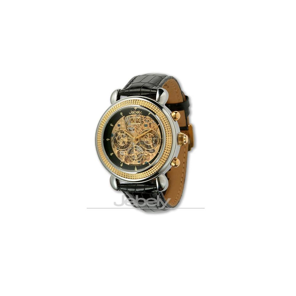 【Jebely 】阿爾卑斯山王者鏤空機械錶(貴族黑)
