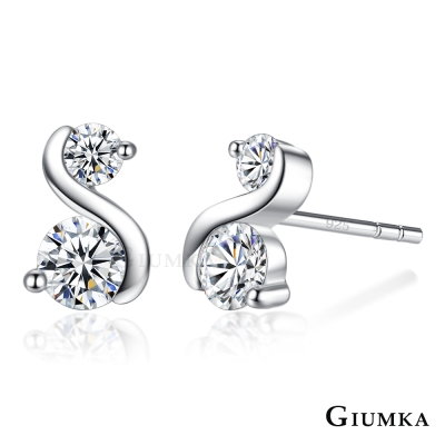 GIUMKA 925純銀耳環女針式 童話情緣-銀色