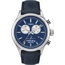 TIMEX Waterbury Chrono系列雙眼計時手錶-藍x銀/42mm