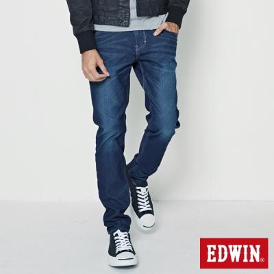 EDWIN AB褲 迦績褲JERSEYS仿紅布邊繡花牛仔褲-男-原藍磨