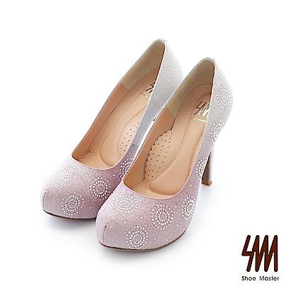 SM-台灣晶鑽-金屬漸層閃耀水鑽高跟細跟晚宴鞋-粉色