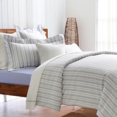 Cozy inn 生活-灰 300織精梳棉四件式被套床包組(加大)