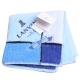 LANVIN en bleu 蝴蝶結品牌LOGO刺繡小方巾(水藍系) product thumbnail 1