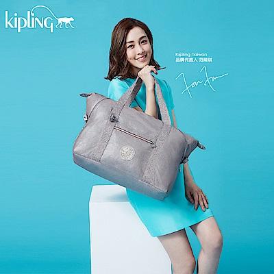 Kipling 斜背包 銀河麻灰-大