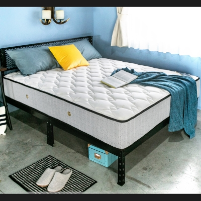 H&D 活氧系列-天絲美式二線護邊獨立筒床墊 -雙人5尺