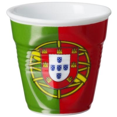 法國 REVOL FRO 葡萄牙國旗陶瓷皺折杯 80cc