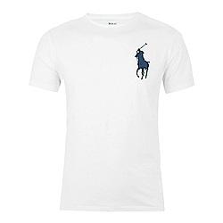 Polo Rlaph Lauren 經典刺繡大馬短袖素面T恤-白色