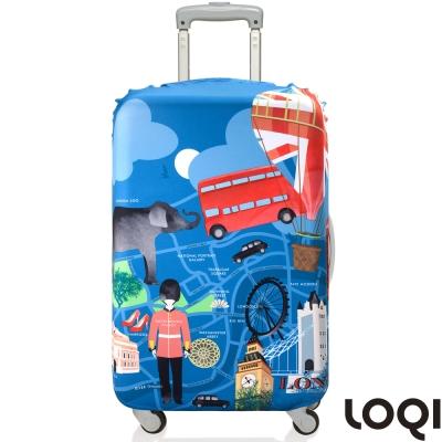 LOQI 行李箱套│-倫敦S號 適用21吋以下行李箱保護套