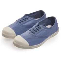 (女)Natural World 西班牙休閒鞋 素面4孔基本款*藍色