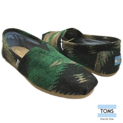 TOMS 毛呢針織懶人鞋-男款(綠)
