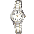 CASIO 時尚輝煌服貼舒適腕錶(LTP-1275SG-7B)-金邊X白面/25mm