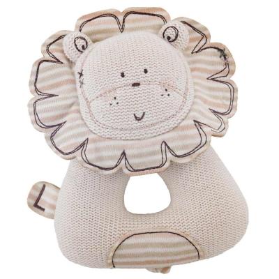 英國Natures Purest天然有機棉-針織小獅子搖把(PTSS0071140)