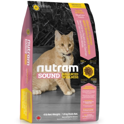 Nutram紐頓 S1幼貓/雞肉鮭魚配方 1.8kg【2136】