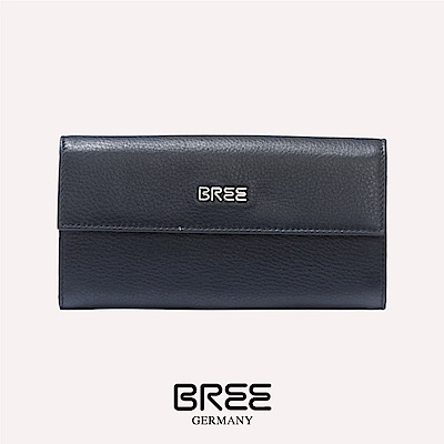 BREE Nola 100  深藍色 組合式長夾  38-214250100