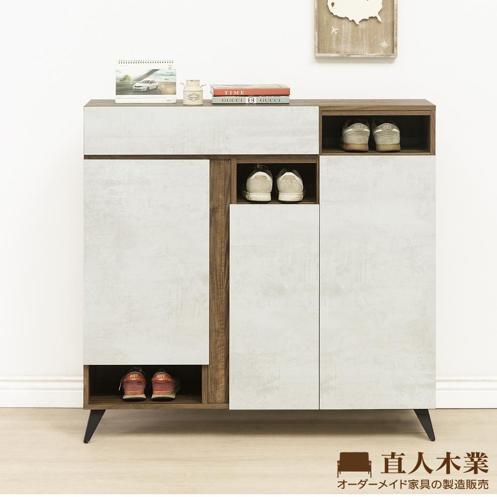 日本直人木業-TINO清水模風格120CM鞋櫃(120x32x119m)