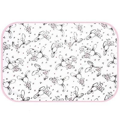 Baby unicorn 粉紅兔子多功能防水隔尿墊野餐墊