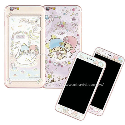 Sanrio iphone6 plus/6s plus雙面強化玻璃保貼-雙子星