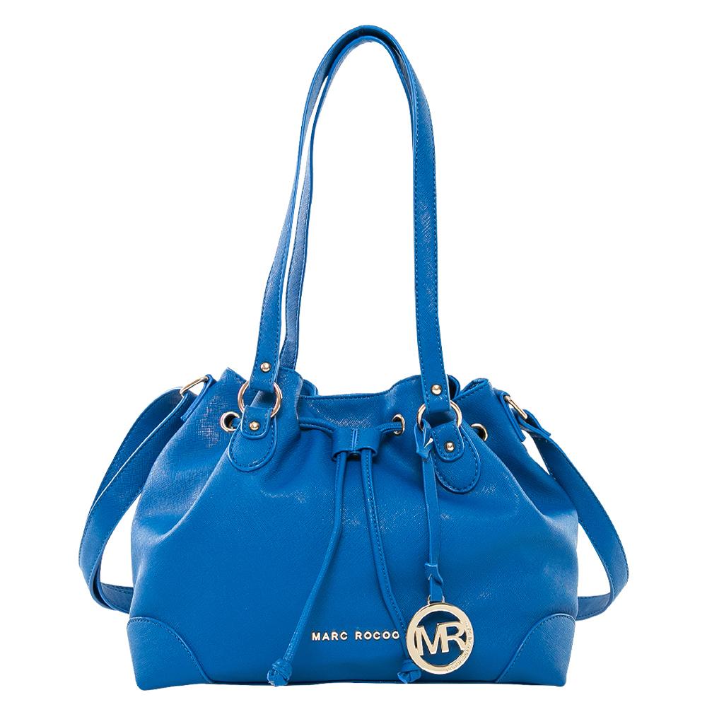 MARC ROCOO 法式時尚名媛水桶包-115(星辰藍)