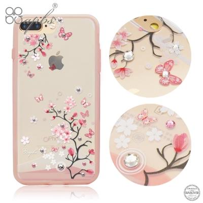 apbs iPhone8/7 Plus 5.5吋耐衝擊雙料水晶手機殼-日本櫻