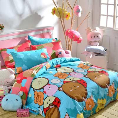 英國Abelia 動物童話 雙人四件式被套床包組