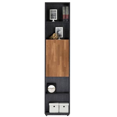 AT-HOME-布拉格1-35尺鐵刀柚木單長門書櫃
