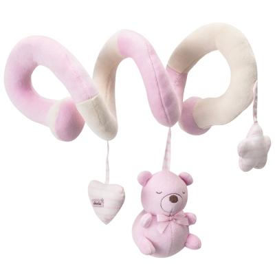 奇哥 布偶熊彎管玩具-粉