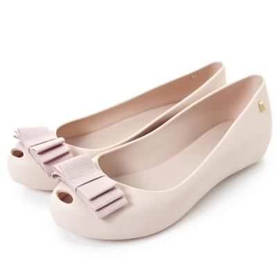MELISSA 雙層小蝴蝶結魚口鞋-粉色