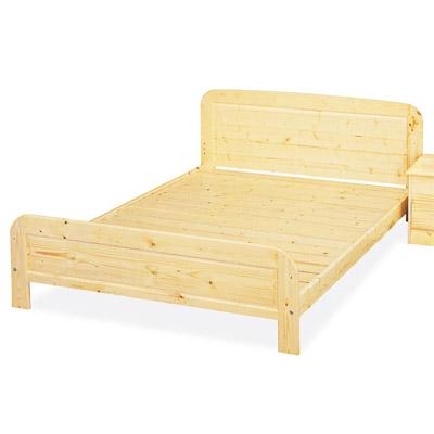 愛比家具 經典松木實木雙人床架-實木床板