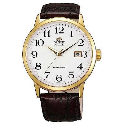 ORIENT 英倫風尚自動上鍊機械腕錶(FER27005W0)-白/41mm